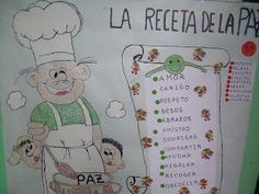 la receta de la paz Peace Crafts, Arts And Crafts, Classroom, Activities, Day, Ideas Creativas, Murals, International Day Of Peace, Learning
