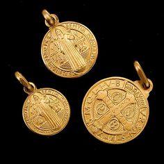 Medalla de San Benito Oro 18k | venta online en HOLYART