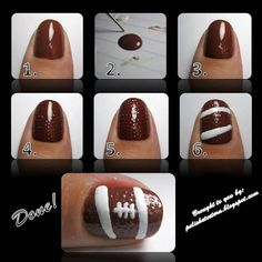 27 Football Nail Art Inspirations, & Covergirl's Fun Team Fanicures!