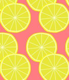 Lemons  #textile #pattern