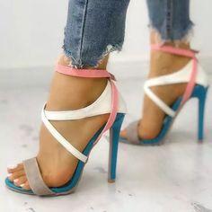 Hot Shoes, Crazy Shoes, Me Too Shoes, Cute Shoes Heels, Strappy Sandals Heels, Stiletto Heels, High Heels, Stilettos, Peeptoe Heels