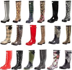Women Flat Rubber Rain Boots Mid Calf Waterproof Solid & Multi Colors #ForeverYoungRainBoots #Rainboots