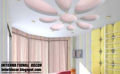 Best creative kids room ceilings design ideas, cool false ceiling for girls room