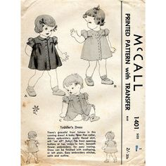 1940s Toddler Girl's Dress Vintage Sewing by BessieAndMaive, $12.00