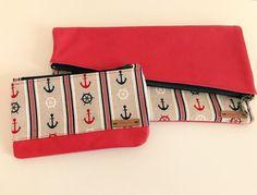 """Clutches - Taschenset """"Maritim"""": Clutch und Mini-Täschchen - ein Designerstück von sabinese bei DaWanda"""
