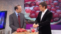 5 Foods to Fight Toxic Hunger, Pt 1. Dr. Joel Fuhrman shows how to get seeds out of a pomegrante. Brillant now I can gorge myself. Love it!