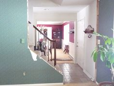 I love how this couple updated the look of their staircase from closed off walls to Beautiful Open Staircase Reveal!