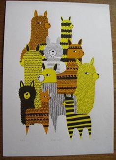 patterned llamas!