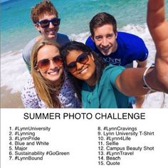 Share your photos with us by playing along to our Summer Photo Challenge! Include #LynnUniversity and the number. We will be sure to share our favorites! #LynnUniversity #Summer #PhotoChallenge