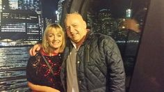 On board the Bateux with the Manhattan skyline behind....bliss..