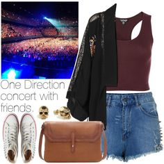 One Direction concert with friends. by welove1 on Polyvore featuring Topshop, The Ragged Priest, Converse, Zara and Kasun