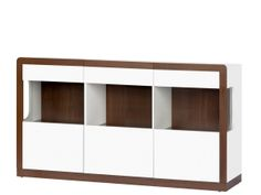 MALTA 10 sideboard SZYNAKA. Spacious 2-door cabinet with three drawers and open compartment. There is a shelf behind the left and right door. There are three drawers in the middle part, including one inner. Doors with PUSH TO OPEN system. Polish Szynaka Modern Furniture Store in London, United Kingdom #furniture #polish #szynaka #dresser #cabinet