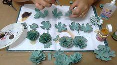 DIY - Flores Suculentas com caixa de ovos.