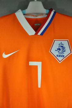 Holland Netherlands Van PERSIE Home Replica Nike Jersey Shirt 7 2008 European Cup World Cup 2010 with Original Official Player size name and numbers Van PERSIE # 7, Vintage Collection – Nice Day Sports