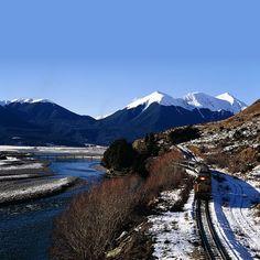 TranzAlpine train, New Zealand