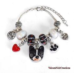 Dog french bulldog paw footprint bracelet