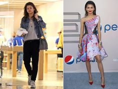 Zendaya Coleman; with and without make-up