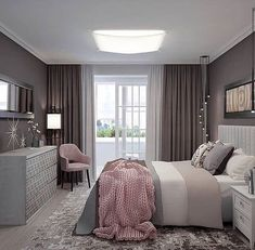 25 Gorgeous Purple bedroom ideas , Gorgeous Purple Bedroom Ideas Tips The bedroom includes a gorgeous mixture of purples. It comes with a gorgeous mix of purples. This small, dreamy bed. Home Room Design, Home Interior Design, Purple Bedrooms, Home Decor Bedroom, Bedroom Ideas, Master Bedroom, Minimalist Bedroom, Luxurious Bedrooms, House Rooms