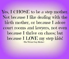 And I love my kids enough to fight for them to have their siblings in their lives! Thats what good moms do!