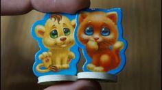 Киндер Сюрпризы,Unboxing Kinder Surprise, Лапусики, котята, магнитные иг...