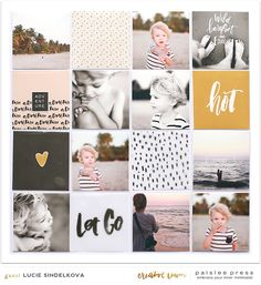 Lay-out × Foto's, quotes & Design Project Life Scrapbook, Project Life Album, Project Life Layouts, Project Life Cards, Book Projects, Photo Projects, Multi Photo, Album Design, Scrapbook Paper Crafts