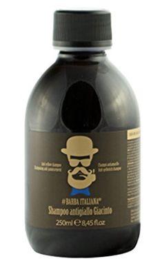 Barba Italiana Anti-Gelbstich Shampoo Giacinto 250 ml Roman Chamomile, Lemon Balm, Bleached Hair, Beard Care, Bergamot, Whiskey Bottle, Yellow, Blue, Shampoo