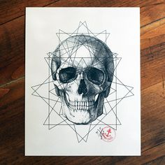 8x10 Tattoo Flash Artwork Print Geometric by CAPTAINCHAOSARTWORKS, $19.00