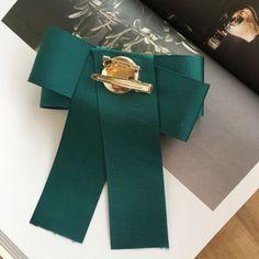 De Colección Moda Cristal Acrílico atado Verde Bow broche Pin