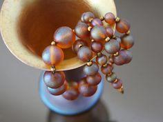 WMF Myra Kristal Glass Iridescent Necklace, Graduated. Iconic ART DECO. Vintage Iridecsent Loetz Glass Necklace