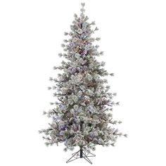 Vickerman 307931  9 x 67 Flocked Anchorage Pine 850 MultiColor Italian LED Lights Christmas Tree A131582LED ** You can find out more details at the link of the image.
