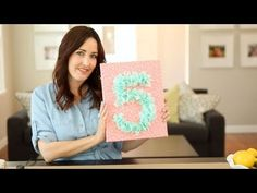 A Birthday to Remember: How to Make A Beautiful Birthday Number Sign with Tissue Paper - YouTube