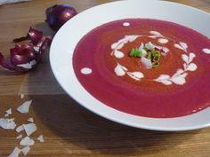 """""""Thajská"""" polévka z červené řepy Panna Cotta, Food And Drink, Ethnic Recipes, Dulce De Leche"""