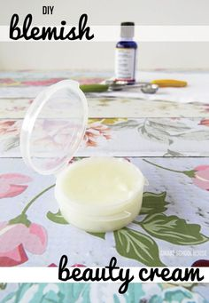 DIY Blemish Beauty Cream - a homemade blemish cream