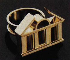 Paolo Portoghesi, Gold Ring  #architecture #drawing Pinned by www.modlar.com