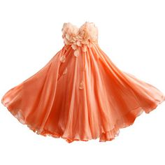 peach flower petal dress. I want this for Art Alive!