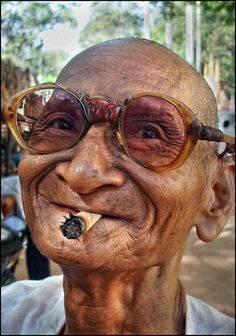 Old man from Siem Reap, Cambodia.