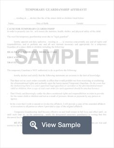 Free Printable Guardian Of Minor Children Conditional  Sample
