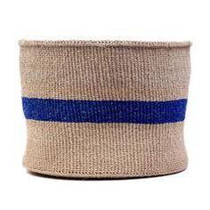 Kenyan blue striped basket
