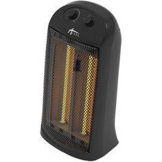 Alera Quartz Tower Heater, 13 1/4 inchW x 10 1/8 inchD x 23 1/4 inchH, Black