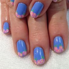 Garden Party Floral French Tips