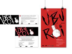 Ubu Roi - Poster and advertisements on Behance