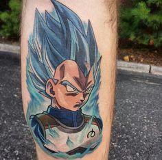 Vegeta ssj blue Dragon Ball Z, One Punch Man, Dbz, Gohan, Z Tattoo, Tattoo Designs, Tattoo Ideas, Marvel, Tatting