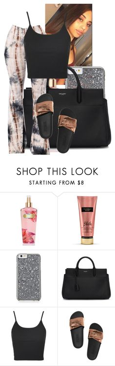 """going out with baby cuz- Portia"" by th3-qu33n-25 on Polyvore featuring Victoria's Secret, Bobbi Brown Cosmetics, Yves Saint Laurent and Topshop"