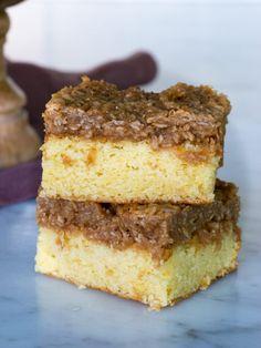 Dansk drömkaka | Brinken bakar Cake Bars, Dessert Bars, Danish Dessert, Food Fantasy, Fika, Let Them Eat Cake, Cake Cookies, Finger Foods, Baked Goods