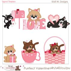 Purr-fect Valentine Cat Kitty Kitten Love PSD Templates by Kristi W. Designs         March 05, 2014 at 10:29PM