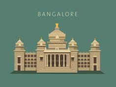 Bangalore - Vidhan Soudha by ranganath krishnamani