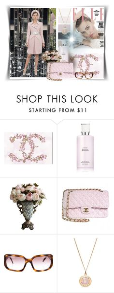 """""""Chanel spring 2017"""" by barbara-gennari ❤ liked on Polyvore featuring Chanel and Oliver Gal Artist Co."""