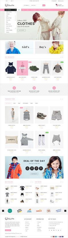 Suunhi is a simple, clean and clear style #PSD template for multipurpose #kids #toys #shop eCommerce website with 6 unique homepages and 16 organized PSD pages download now➯ https://themeforest.net/item/suunhi-ecommerce-psd-template/17184929?ref=Datasata