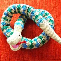 Gehaakte slang, crochet snake #snake # slang #crochet #gehaakt #haken
