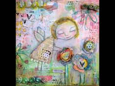 ' I will paint the sky your favourite colour'- mixed media art journal by TandiArt - YouTube